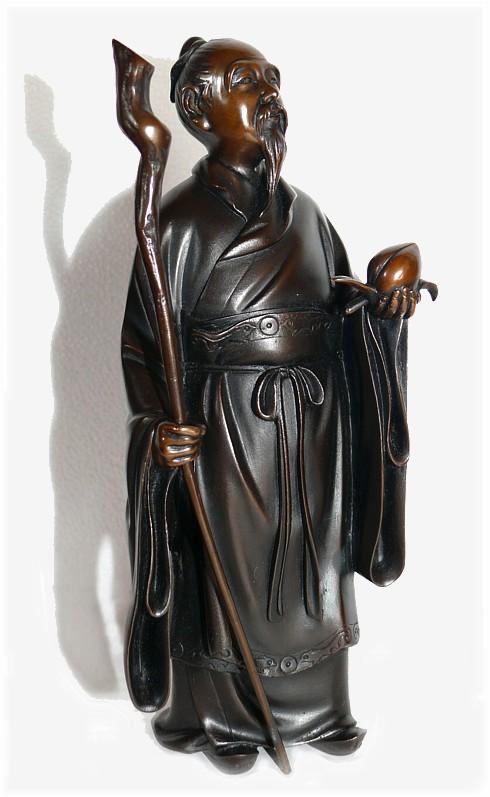 Японская бронзовая статуэтка в виде