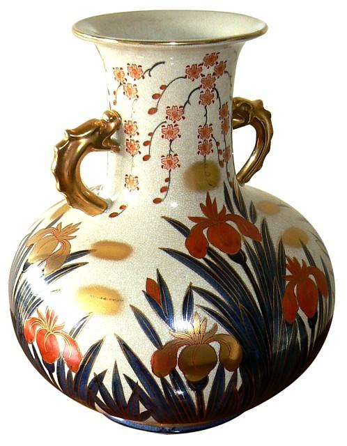 Японский антиквариат фарфоровая ваза