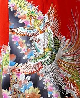 Японская вышивка на шелке